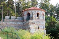 Torre de la defensa de una fortaleza medieval Imagenes de archivo