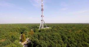 Torre de la difusión en el bosque
