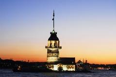 Torre de la doncella - capital de Estambul del cultur Fotografía de archivo libre de regalías