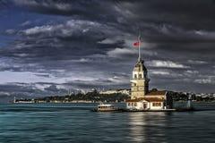 Torre de la doncella en Estambul Fotografía de archivo
