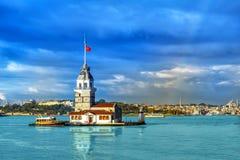 Torre de la doncella en Estambul Foto de archivo