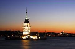 Torre de la doncella - torre de los leander Fotos de archivo libres de regalías