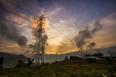 Torre de la electricidad Fotografía de archivo libre de regalías