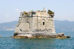 Torre de la escuela en la isla de Palmaria cerca de Portovenere Imagen de archivo