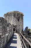 Torre de la fortaleza de Kamerlengo Trogir, Croacia imagen de archivo