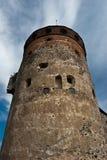 Torre de la fortaleza de Olavinlinna Imagen de archivo libre de regalías