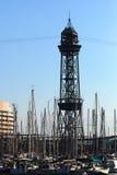 Torre de la góndola en Barcelona imágenes de archivo libres de regalías