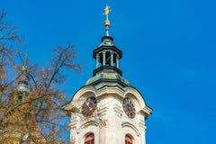 Torre de la iglesia Imágenes de archivo libres de regalías