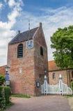 Torre de la iglesia de Ezinge Fotos de archivo