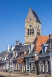 Torre de la iglesia de Martini en Bolsward Foto de archivo