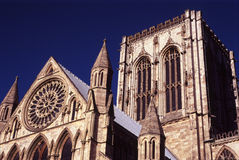 Torre de la iglesia de monasterio de York Imagen de archivo libre de regalías