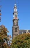 Torre de la iglesia de Westerkerk en Amsterdam, Holanda Imagen de archivo