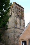Torre de la iglesia fortificada medieval Cristian, Transilvania Imágenes de archivo libres de regalías