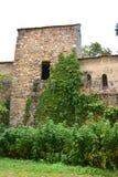 Torre de la iglesia fortificada medieval en Cristian, Transilvania Fotografía de archivo