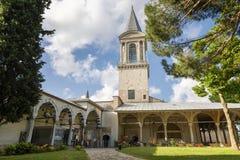 Torre de la justicia And Imperial Council en el palacio de Topkapi, Estambul, Turquía fotografía de archivo libre de regalías