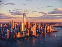 Torre de la libertad en New York City Imágenes de archivo libres de regalías