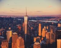 Torre de la libertad en New York City Fotografía de archivo