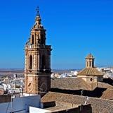 Torre de la Merced, Osuna, Spanien. Royaltyfri Bild