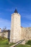 Torre de la pared vieja de la ciudad en Muehlheim foto de archivo