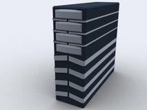 Torre de la PC en negro Foto de archivo libre de regalías