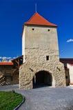 Torre de la puerta de la fortaleza de Rupea Foto de archivo libre de regalías