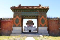 Torre de la puerta de la tumba de ZhaoXi en las tumbas reales del este del Qing Imágenes de archivo libres de regalías
