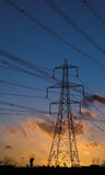 Torre de la puesta del sol Imagenes de archivo