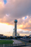 Torre de la reunión en la puesta del sol Imagen de archivo