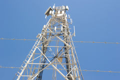 Torre de la telecomunicación Foto de archivo