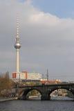 Torre de la televisión, Berlín Imágenes de archivo libres de regalías