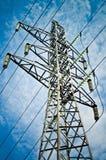 Torre de la transmisión de potencia Fotografía de archivo