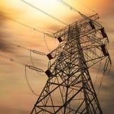Torre de la transmisión de potencia foto de archivo libre de regalías