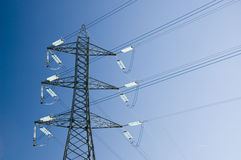 Torre de la transmisión de potencia fotos de archivo libres de regalías