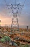 Torre de la transmisión de potencia grande Foto de archivo libre de regalías