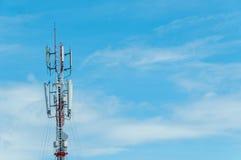 Torre de la transmisión de radio Imágenes de archivo libres de regalías