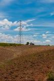 Torre de la transmisión en la montaña imágenes de archivo libres de regalías