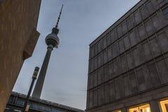 Torre de la TV de Berlín Imagen de archivo libre de regalías