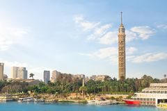 Torre de la TV en El Cairo imagen de archivo