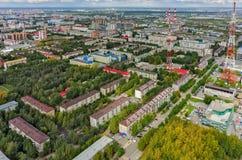 Torre de la TV en la ciudad de Tyumen Rusia Imagen de archivo libre de regalías