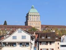 Torre de la universidad de Zurich Fotografía de archivo libre de regalías