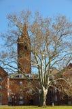 Torre de la universidad de Wells en Aurora New York foto de archivo
