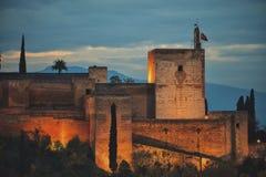 Torre de la Vela, Alhambra Arkivbild