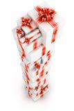 Torre de las cajas de regalo Foto de archivo libre de regalías