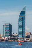Torre de las Comunicaciones or Antel Tower is a 157 meter tall b Stock Photo
