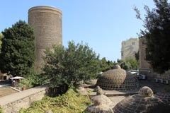 Torre de las doncellas, Baku Imágenes de archivo libres de regalías