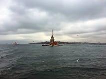 Torre de las doncellas en Estambul Foto de archivo