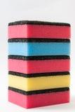 Torre de las esponjas para el lavaplatos Fotografía de archivo libre de regalías
