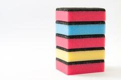 Torre de las esponjas para el lavaplatos Imagen de archivo