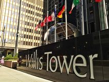 Torre de las voluntades en Chicago Fotografía de archivo libre de regalías