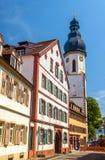 Torre de Lautturm de la iglesia de la trinidad santa en Speyer imagen de archivo libre de regalías